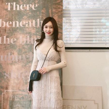 ペニー段ボールポーラニットkorean fashion style