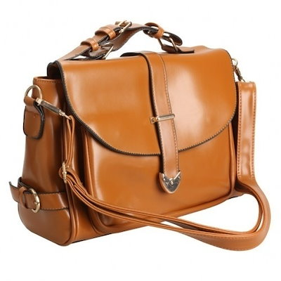 Fashioncity New Retro Messenger Handbag Soft Shoulder Bag Women Lady Totes BrownFC12996