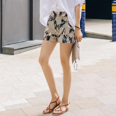 レドゥオピンヘリフラワーショートパンツ パンツ/レババッジ/韓国ファッション