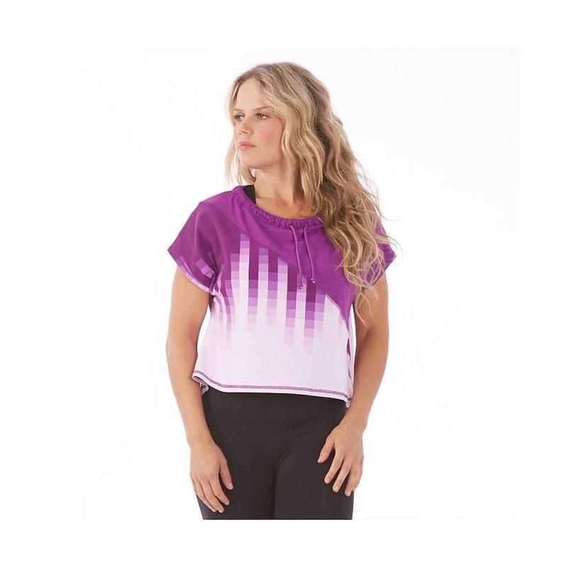 エレクトリック ヨガ レディース トップス カジュアルシャツ【Ombre Butterfly Top】Purple