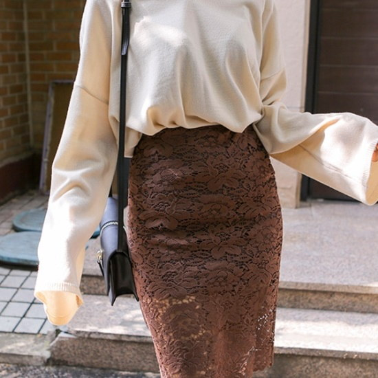 ウィドゥイプンハグ米ルーズフィットニット ニット/セーター/ニット/韓国ファッション