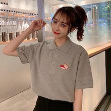 176d9bee15c1c 韓国ファッション 夏新作 半袖Tシャツ トップス レディースファッション ゆったり 半袖 夏服 Tシャツ