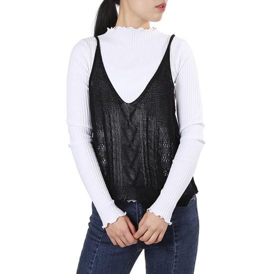 ラブLAP編みニットビュスチェAH2KV580 ニット/セーター/韓国ファッション