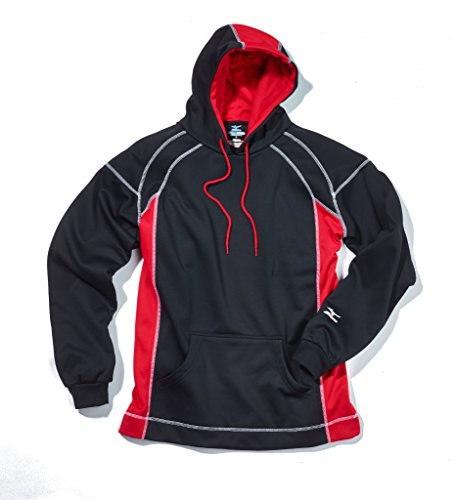 Mizuno G2 Technical Fleece Top, Black/Red, Medium