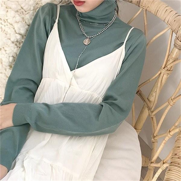 マカロンポーラ・ニットnew 女性ニット/カーディガン/タートルネックニット/韓国ファッション