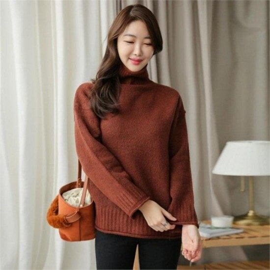 るみさん行き来するようにるみさんるみさんころころポーラ・ベーシックニット ニット/セーター/ニット/韓国ファッション