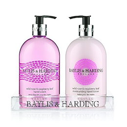 Baylis and Harding Wild Rose and Raspberry Leaf 2 Bottle Hand Wash and Lotion, 2750 Gram (Pack of 6)