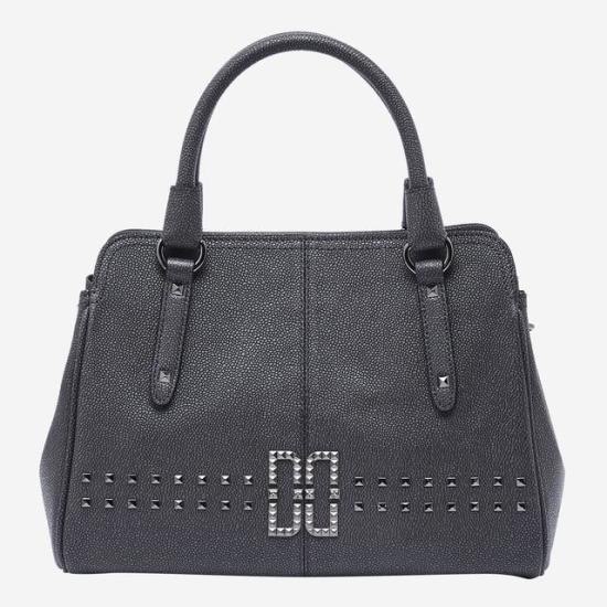 ダックスACCDCBA7F455G3ROCKCHIC CAVIARグレーのロゴ銅鑼装飾土 トートバッグ / 韓国ファッション / Tote bags