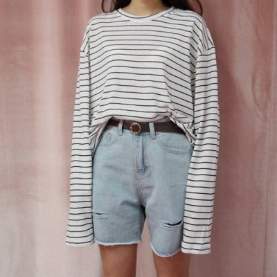 [韓国直送] Juicy stripe tee
