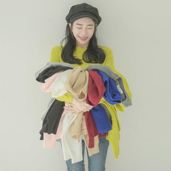 ホワイト・フォックスデイリー人生ニット 大きいサイズ/ニット/セーター/韓国ファッション