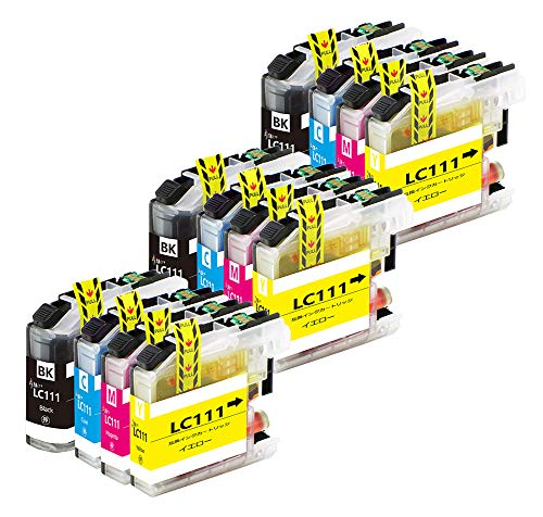 brother インクカートリッジ ブラザー LC111互換プリンターインクLC111-4PK 12本セット(4色セットx3) LC111C LC111M LC111Y LC111BK 大容量タイプ