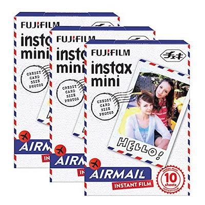 Fujifilm Instax Mini Airmail 30 Film for Fuji 7s 8 25 50s 90 300 Instant Camera, Share SP-1