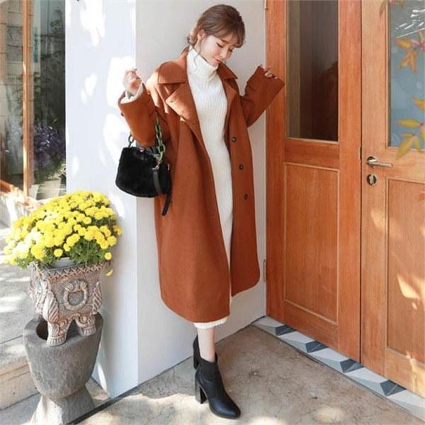 素であるソウルシティ、ロングコートnew 女性のコート/ 韓国ファッション/ジャケット/秋冬/レディース/ハーフ/ロング/