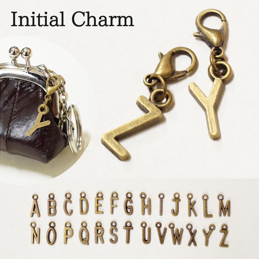 イニシャルパーツ チャーム アルファベット 小さい メンズ レディース 金具 アンティーク
