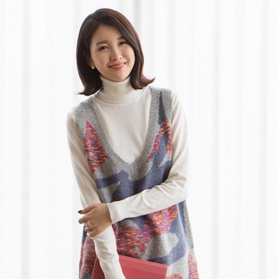 マダムグレースK3357パインウル・ニットロングベストsizeF5577 ニット/セーター/ニット/韓国ファッション