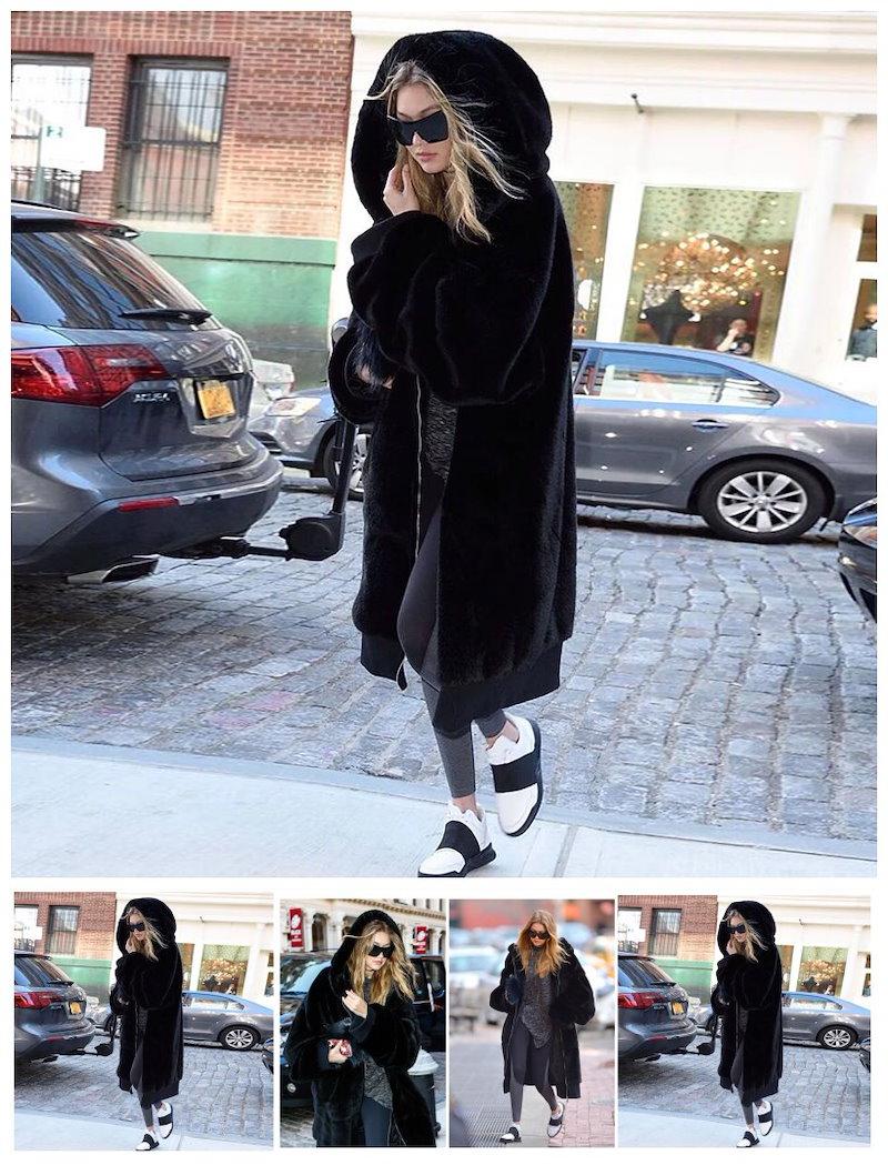 共有する 報告するサイズガイド 女性的なシルエット/ オーバーピッで体型カバーになる!!! 女性美するサイズガイドファーポケットシャギーロングコートファーポケット  ノーカラーロングコート レディース