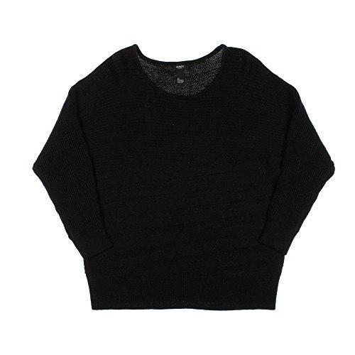 Alfani Womens Plus Metallic Pullover Sweater 1X Deep Black