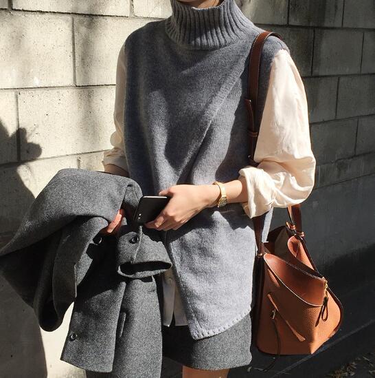 [55555SHOP] 【韓国ファッション】ケーブルニットビスチェトップスにこだわったライトニット。