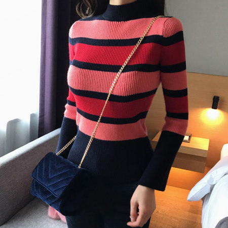 Bibby striped knit Korean fashion style