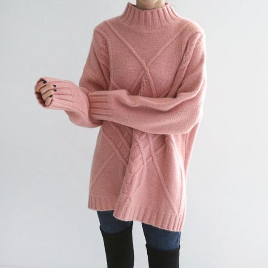 オーサムトリアゾ反目のポーラー・ロング・ニット233692 ニット/セーター/ニット/韓国ファッション
