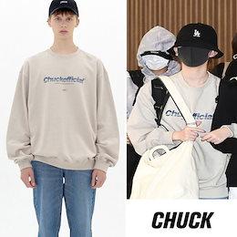 国内未入荷【Chuck】(チャック) 韓国ブランド 《Niziu リクちゃん着用》  Fading Logo Sweatshirt フェージング ロゴ スウェット 『送料無料』  韓国直送