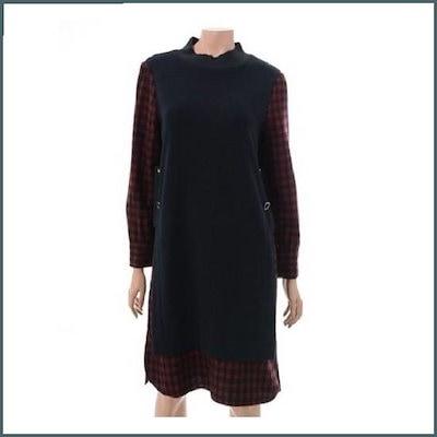 [シャトレン]配色ニットロングワンピースHC7WOP701 /ワンピース/韓国ファッション