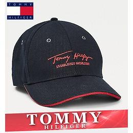 トミーヒルフィガー キャップ 帽子 ハット メンズ レディース シグネチャー 刺繍ロゴ フリーサイズ 新作 TOMMY TH8-10000004