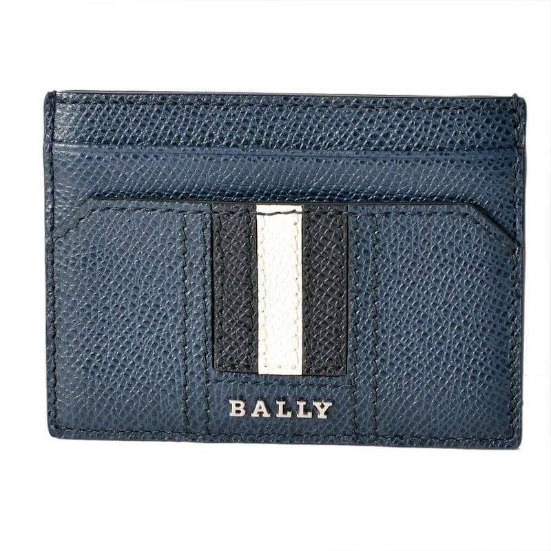 Bally バリー THAR.LT 17 6218033 バリーストライプ カードケース 名刺入れ