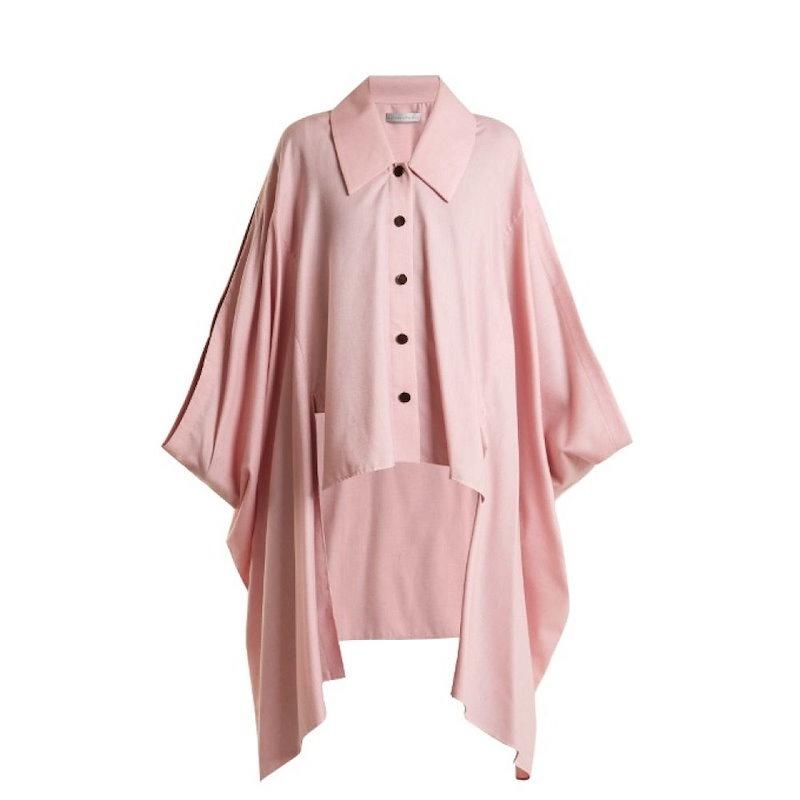 パルマーハーディング レディース トップス【Cotton and wool-blend cape】Rose-pink
