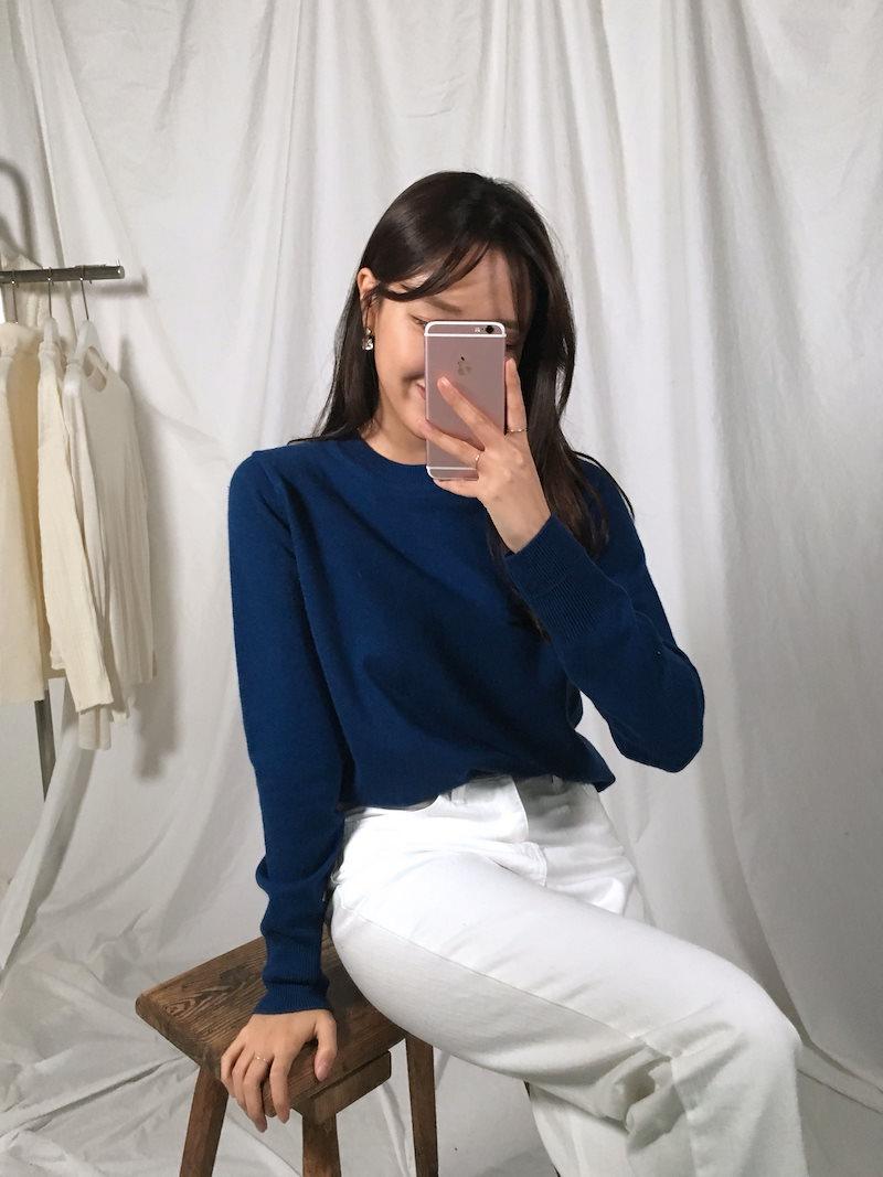 ウール100%オーサムデイリースリムフィットニットkorea fashion style