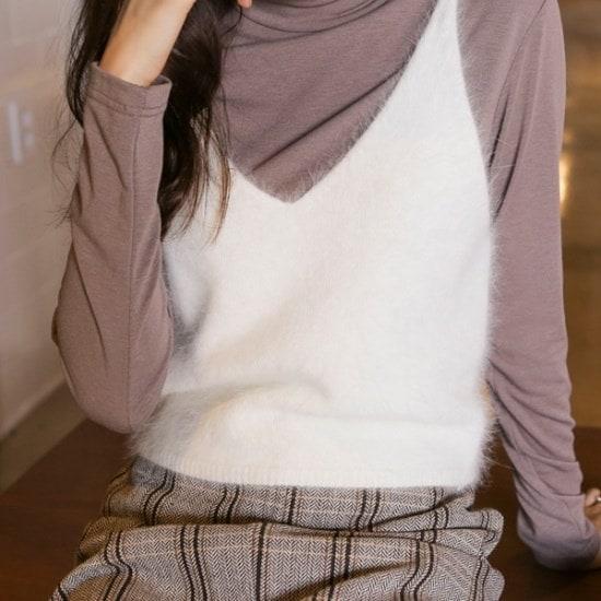 ウィドゥイプン暖かてアンゴラビュスチェ ニット/セーター/ニット/韓国ファッション