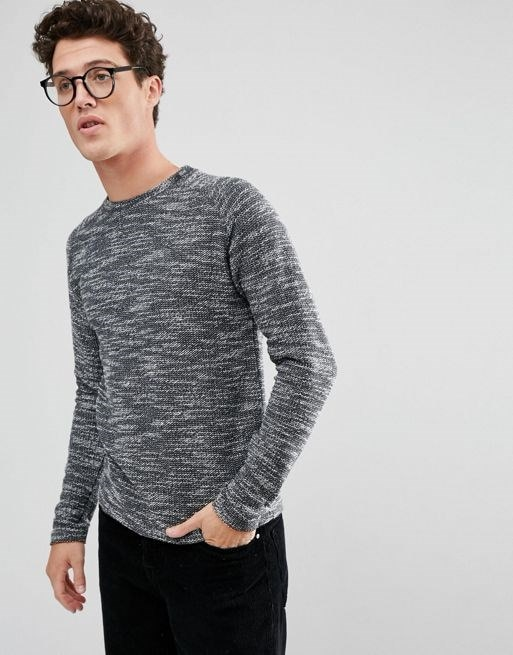 Selected Homme+ Sweatshirt In Mixed Yarn