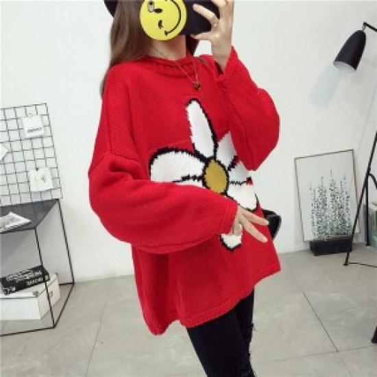 ウィスィモールWP花房ニートY709M ニット/セーター/ニット/韓国ファッション