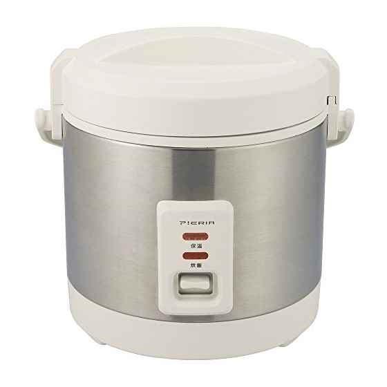 ドウシシャドウシシャ 炊飯器 2.5合  簡単コンパクト ピエリア RCS-25 [ホワイト][3合未満]