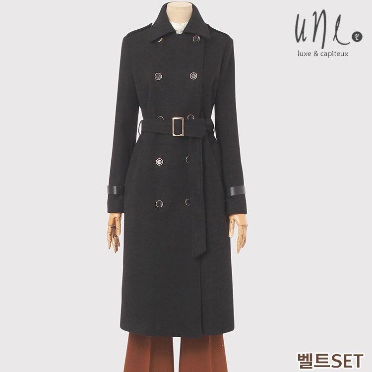 [ベルトSET]トレンチモチーフモダンシックロンコート/韓国ファッション