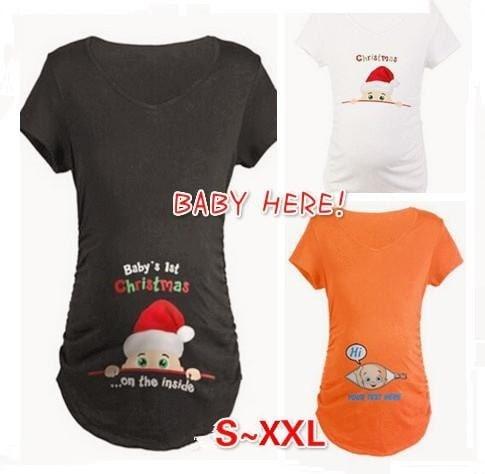 新しいファッション妊娠マタニティカジュアルTシャツ妊娠ルーズフィット服