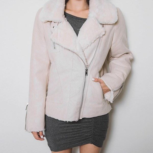 ピンリムのチャックムスタング 女性のジャケット / 韓国ファッション/ジャケット/秋冬/レディース/ハーフ/ロング/