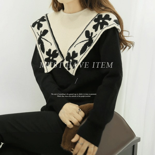【海外直送】クローバニット FREE サイズ 韓国ファッション レディースファッション