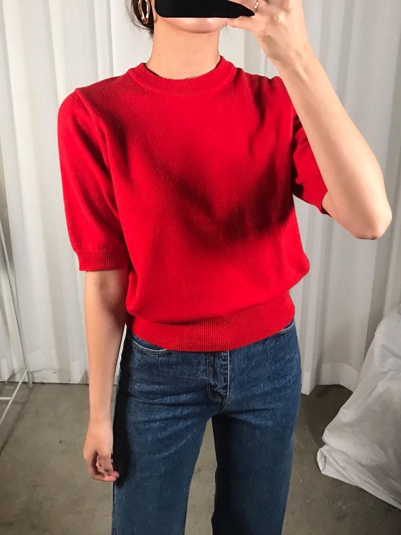 ケーブルハーフデイリーニットkorea fashion style