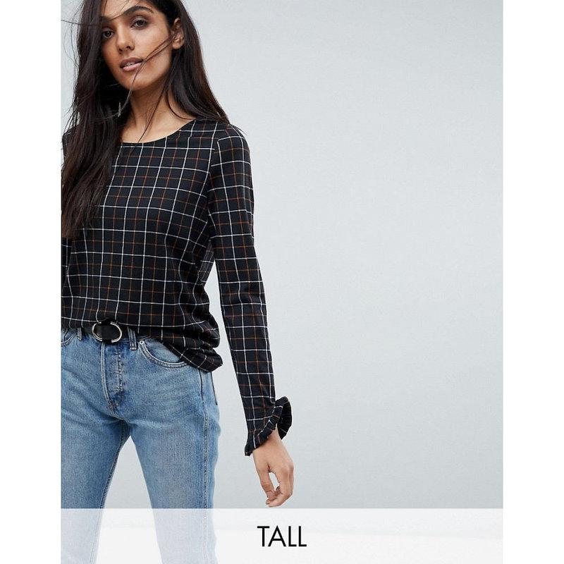 ヴェロモーダ レディース トップス【Vero Moda Tall Grid Check Print Top】Multi