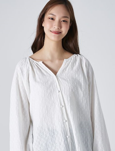 8seconds Balloon Sleeve V-Neck Blouse - Ivory