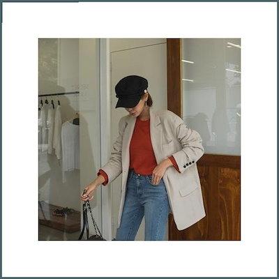 [ホワイト・フォックス][ホワイト・フォックス]シングルボタンテーラード・ジャケット /ジャケット/テーラードジャケット/韓国ファッション