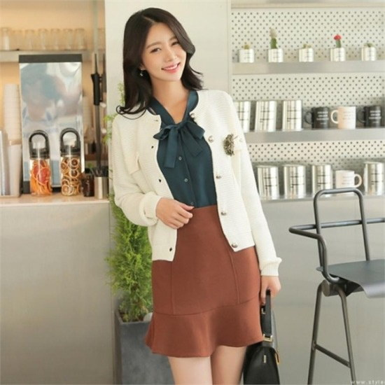 スタイルオンミ行き来するようにスタイルオンミキュートボタンポイントニットカディゴン ニット/セーター/ニット/韓国ファッション
