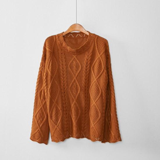 イニク・ねじれたKNITニート ニット/セーター/ニット/韓国ファッション