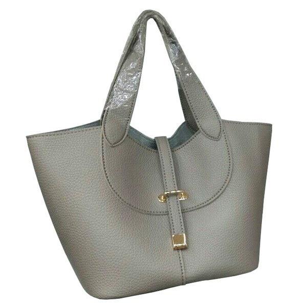 柔らか素材付♪大きく開閉する持ち手長めのシンプルハンドバッグ/エトフ