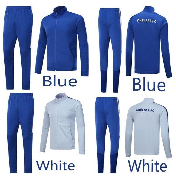 2017-18新しいチェルシージャージートレーニングスーツロングスリーブセーターサッカースーツ