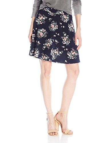 Glamorous Womens Circle Skirt, Navy Vintage Floral, Large