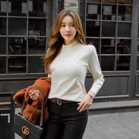 [Tom n Rabbit]トゥミ半ポーラニットポーラティーニットティースリムフィットデイリーkorean fashion style
