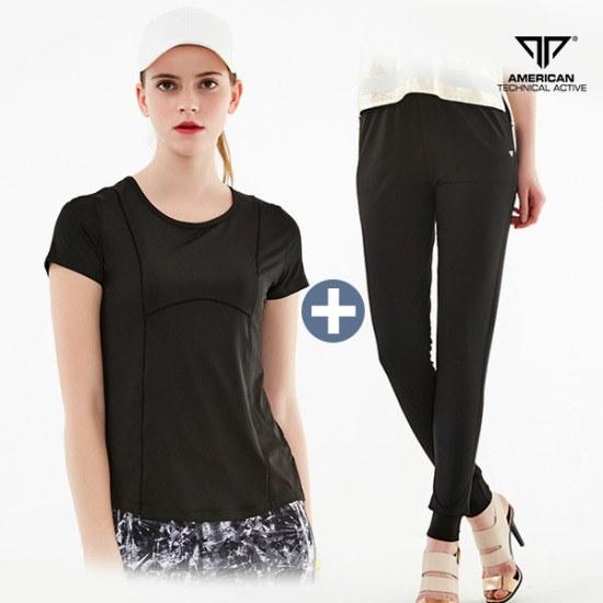 テンジェロATA女性ピラティスティーシャツズボンセットAUSC811931F7srcLangTypeko /フードトレーナー/トレーナー/スウェット/韓国ファッション