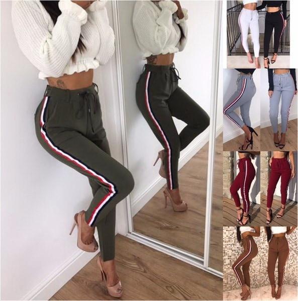 女性のファッションハイウエストカジュアルパンツジョギングパンツMI0066